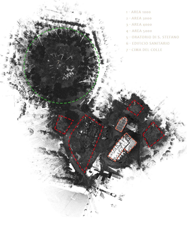 Aree oggetto di studio Colle del Pionta Arezzo