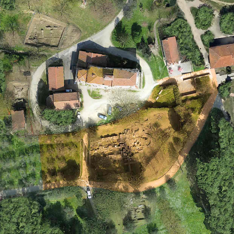 Ortofoto del Colle del Pionta e dell'Area 1000.