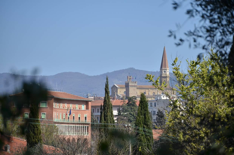 Vista dal Colle del Pionta verso il Duomo di Arezzo