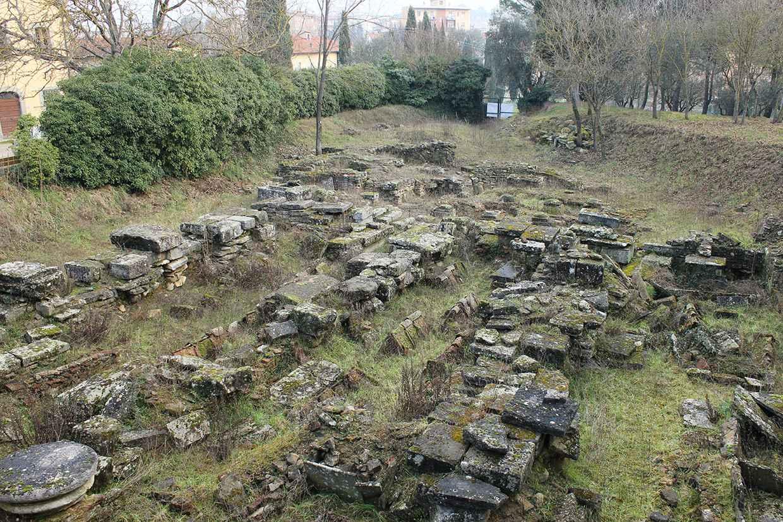 L'area 1000 con i resti della Chiesa di Santo Stefano e Santa Maria