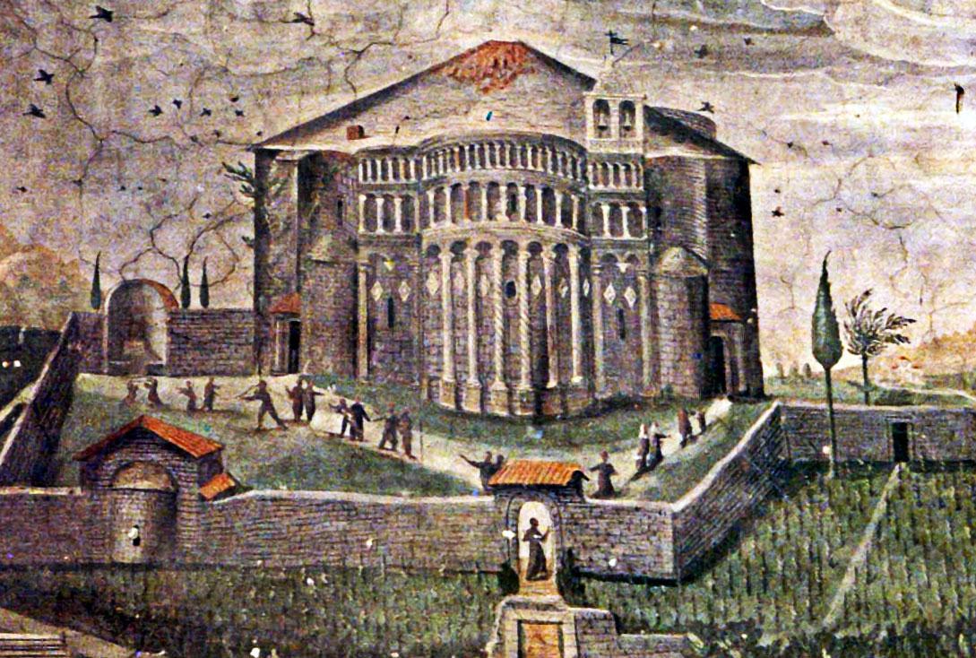 Raffigurazione del Tempio di San Donato di Arezzo