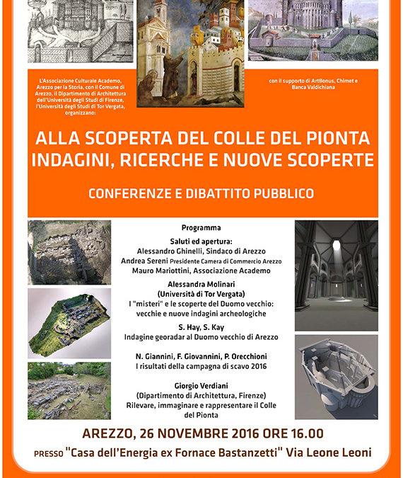 Conferenza e dibattito sul Colle del Pionta il 26 Novembre ad Arezzo